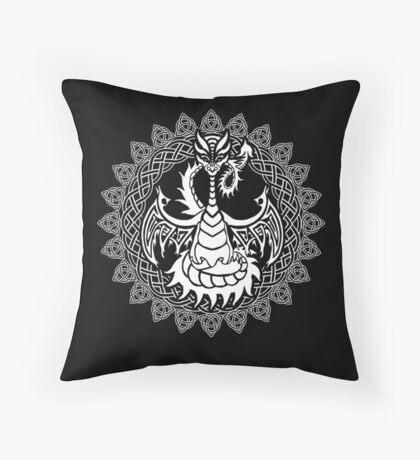 Zen Tattoo Dragon Meditating in Celtic Mandala Floor Pillow