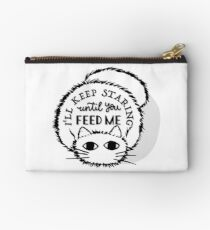 Cat Crazy For Food Studio Pouch