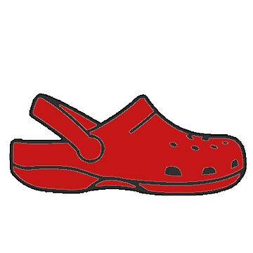 Red Simple Crocs by apollosale