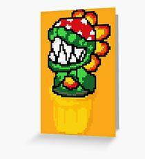 piranha petey mario bros flower pixel Greeting Card