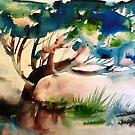 Landschaft mit Baum von Marianna Tankelevich