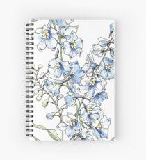 Blaue Ritterspornblumen Spiralblock