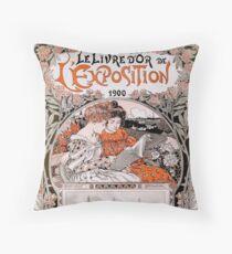 Le Livre D'Or de L'Exposition 1900 (The Gold Book of the 1900 Exhibition) Throw Pillow