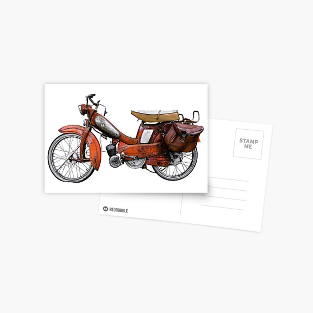 Vintage Französisch Motobecane Moped Postkarte