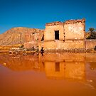 Old mine buildings reflected by Ralph Goldsmith