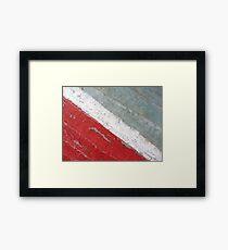 Diagonal Framed Print