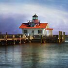 Roanoke Marshes Lighthouse by Kathy Weaver