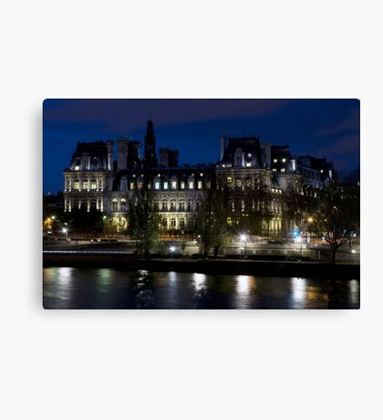 France - Paris 75004 - By night Canvas Print