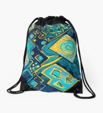 GALAXY SPARKLES BLUE Drawstring Bag