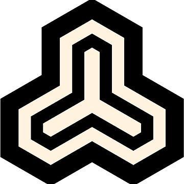 Geometric Pattern: Y Outline: Black/Cream by redwolfoz