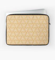Geometric Pattern: Y Outline: Gold/Cream Laptop Sleeve