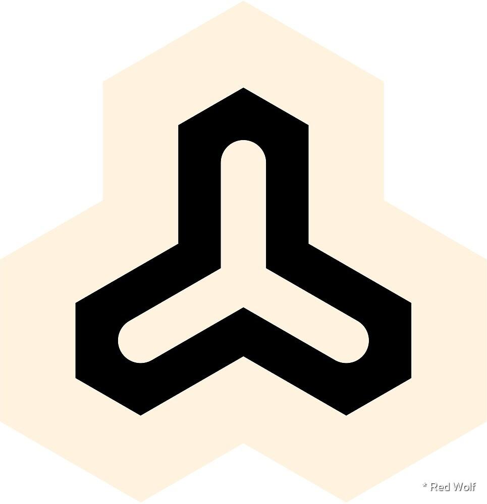 Geometric Pattern: Y: Cream/Black by * Red Wolf