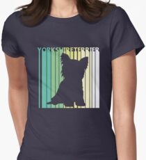 Cute Yorkshire Terrier Silhouette Women's Fitted T-Shirt