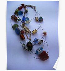 Beaded necklace Poster