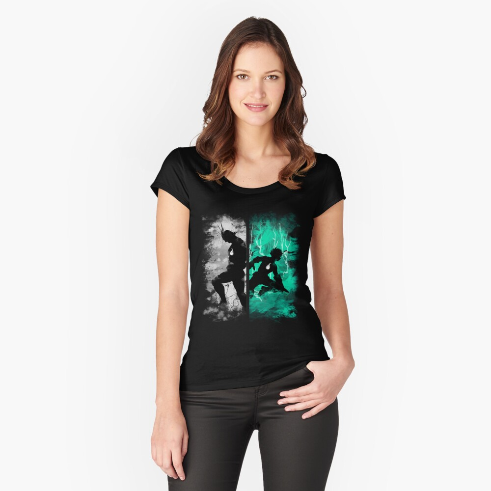 Uno para todos Camiseta entallada de cuello ancho