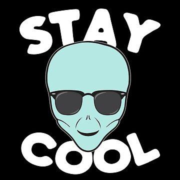 «T-shirt Alien Head - Restez au vert vert Alien portant des lunettes de soleil» par ChillingNation