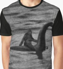 Bigfoot Riding Loch Ness Monster HQ Graphic T-Shirt
