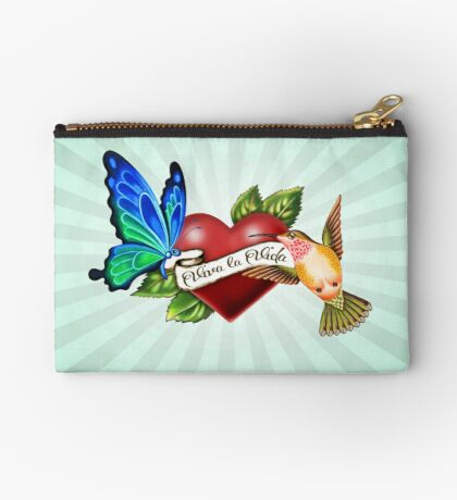Viva la Vida Tattoo Zipper Pouch