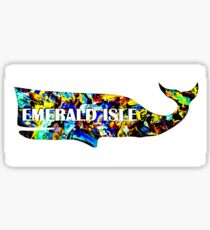 Emerald Isle whale sticker Sticker
