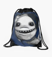 Meeting New People for Nessie and Mermaid (Grayscale Version)  Drawstring Bag