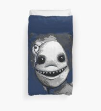Meeting New People for Nessie and Mermaid (Grayscale Version)  Duvet Cover
