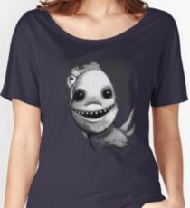 Meeting New People for Nessie and Mermaid (Grayscale Version)  Women's Relaxed Fit T-Shirt