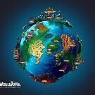 World Anvil Blue Tapestry by worldanvil