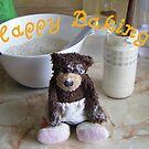 Happy Baking Bear by Dean Harkness