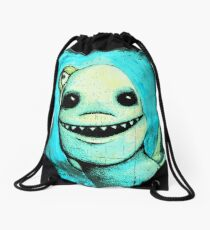 Meeting New People for Nessie and Mermaid (Color Version)  Drawstring Bag