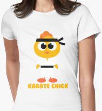 Karate Chicken Art - Little Fighting Chick Art Gift Women's Fitted T-Shirt