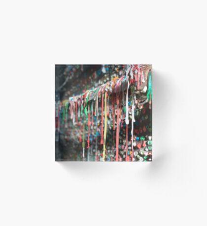 Gum Wall (Seattle, USA) Acrylic Block