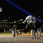 Just Jane And A Bombers Moon by Colin  Williams Photography