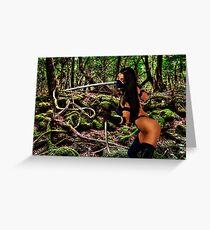 Girl Warrior Fine Art Print Greeting Card