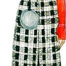 Das Mädchen mit einer silbernen Kugel von Larisa Zagumennova