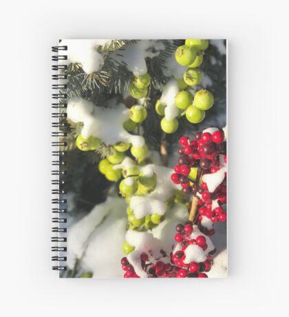Winter Berries (Banff, Canada) Spiral Notebook