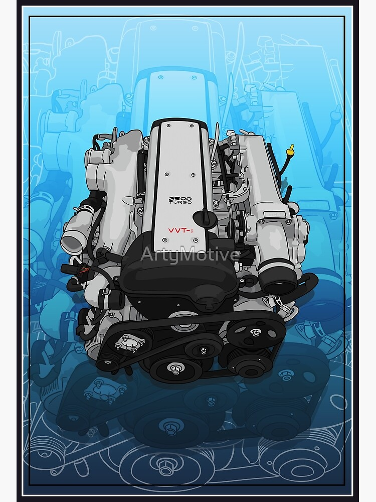 1JZ Engine with background | Canvas Print