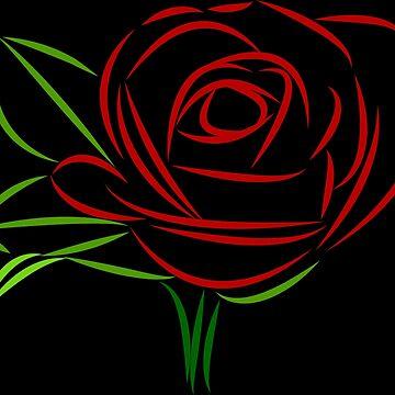 wundervolle rote Rose, Rosen, Liebe, rot von rhnaturestyles