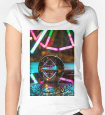 Amusement Park Ferris Wheel At Night  Fitted Scoop T-Shirt