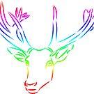 wundervoller Hirsch in den Farben des Regenbogens, Reh von rhnaturestyles