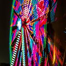 Colorful Ferris Wheel At Night by Southern  Departure
