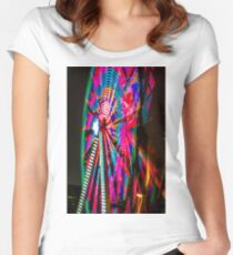 Colorful Ferris Wheel At Night Fitted Scoop T-Shirt