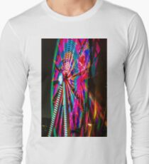 Colorful Ferris Wheel At Night Long Sleeve T-Shirt