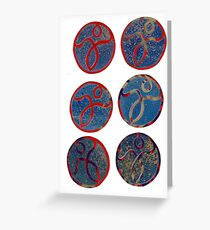 6 basimpleasy stickers Greeting Card