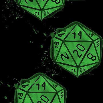 D20 - Dice - Tabletop Game - Role Playing - Dnd - Green - Roll Initiative - Gaming - Shirt - Gift - Sticker by WishingInkwell