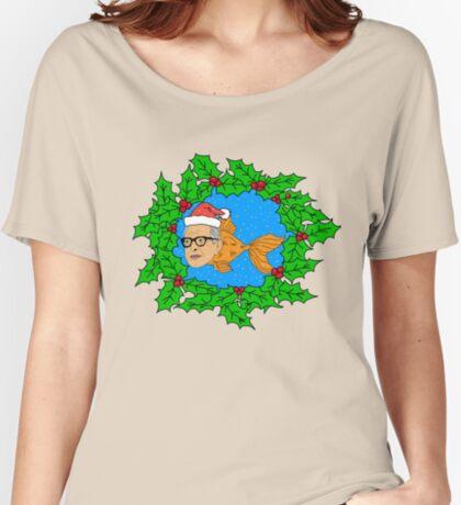 Festive Jeff Goldfish Women's Relaxed Fit T-Shirt