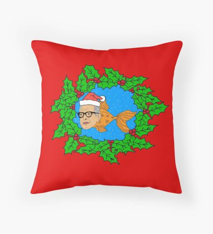 Festive Jeff Goldfish Throw Pillow