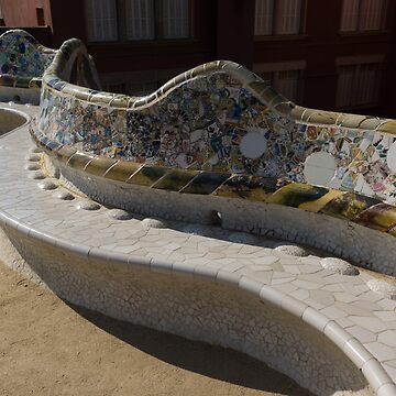 Gaudi's Park Guell Sinuous Curves  by GeorgiaM
