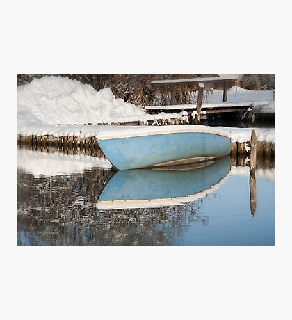 Winter Boating Blues Photographic Print