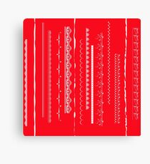 Crazy lace on red Canvas Print