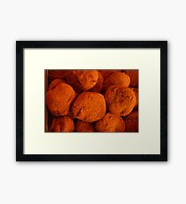 it's a chocolate world Framed Print